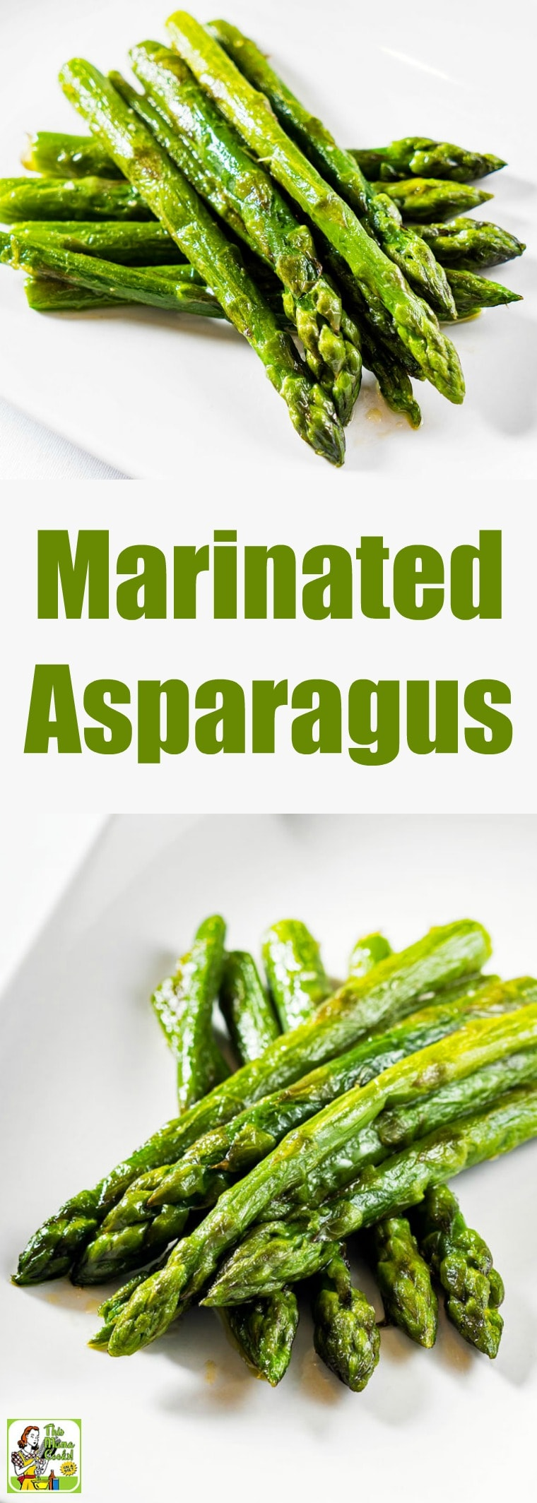 Marinated Asparagus is a roasted asparagus recipe with a delicious marinade made with wholesome rice vinegar. It\'s the perfect springtime side dish for Easter brunch or dinner. #recipes #easy #recipeoftheday #glutenfree #easyrecipe #easyrecipes #glutenfreerecipes #asparagus #sidedish