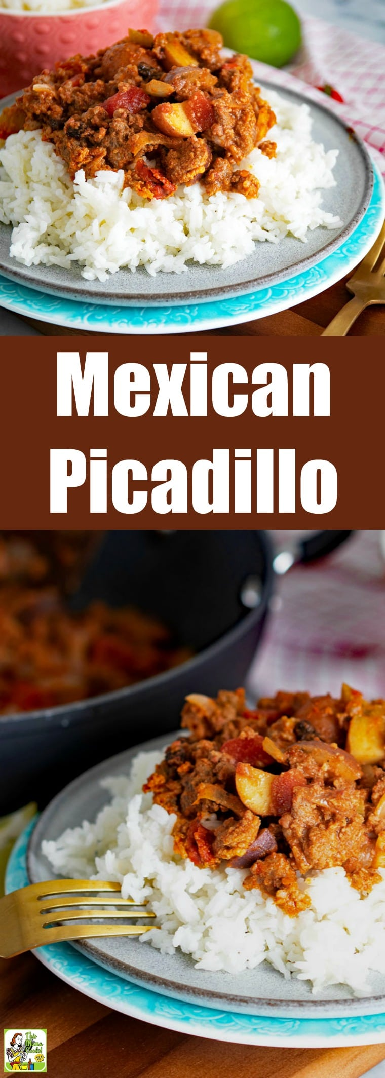 This version of Mexican Picadillo is easy to make with ingredients like ground beef, chorizo, potatoes, celery, tomatoes, and raisins. This gluten free dinner recipe can be served on rice. #groundbeef #rice #mexicanfoodrecipes #mexicanfood