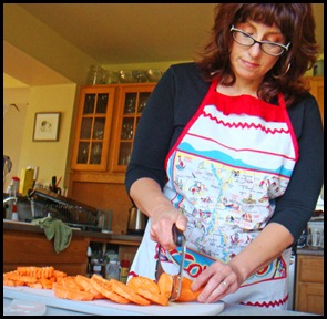 Anne-Marie making sweet potato fries