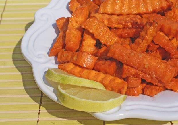 Baked Sweet Potato Margarita Fries