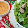 Christmas leftovers: Roast Beef Salad with Chipotle Rice Vinegar Salad Dressing