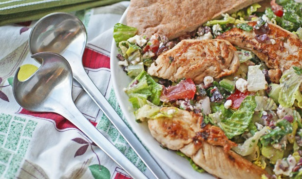Greek Grill Chicken & Vegetable Salad