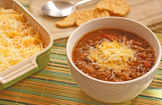 Slow cooker pumpkin and bean chili recipe at This Mama Cooks! On a Diet - thismamacooks.com