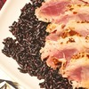 Seared Panko Encrusted Tuna on Black Rice