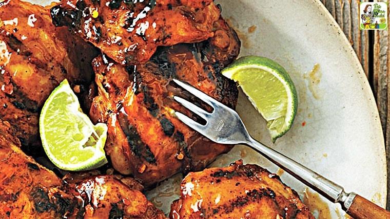Tequila-Glazed Grilled Chicken Thighs recipe
