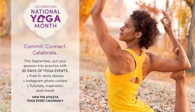 Celebrate National Yoga Month with Athleta #AthletaEmbrace