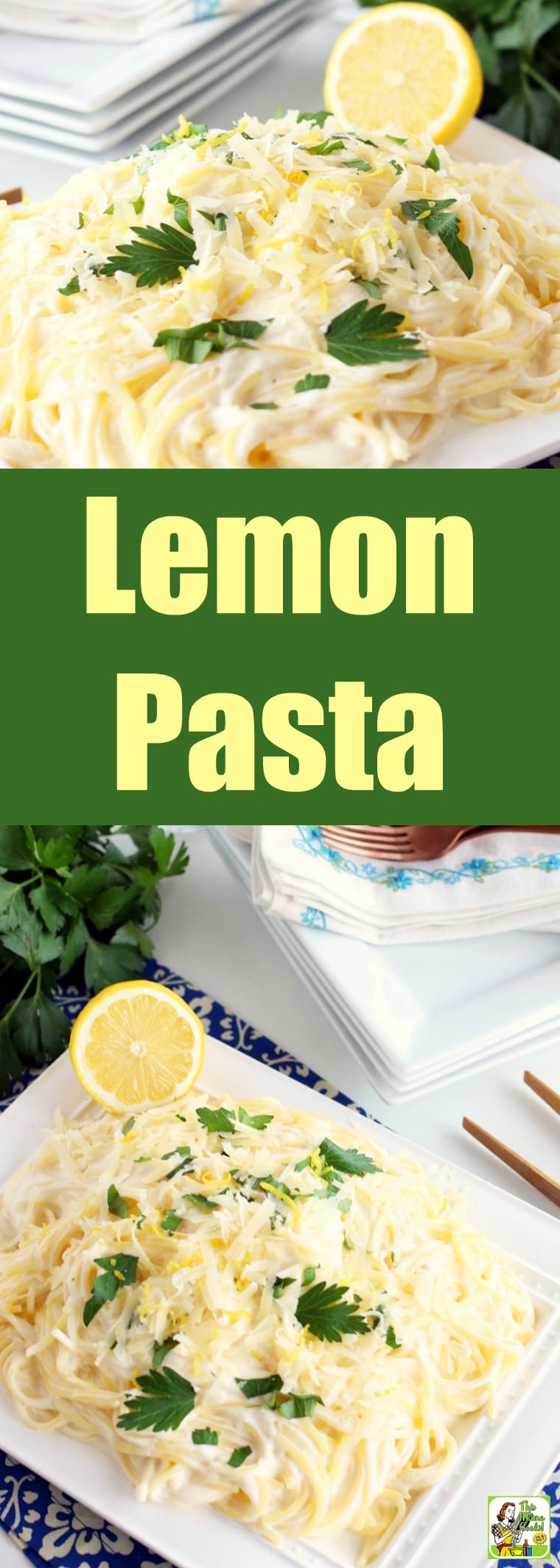 This Lemon Pasta recipe is a delightful pairing of creamy sauce, pasta, and bright lemon flavor that makes a perfect weeknight meal. Easy to adapt to vegan and gluten-free diets. #recipes #easy #recipeoftheday #glutenfree #easyrecipe #easyrecipes #glutenfreerecipes #dinner #easydinner #dinnerrecipes #dinnerideas #pasta #lemon