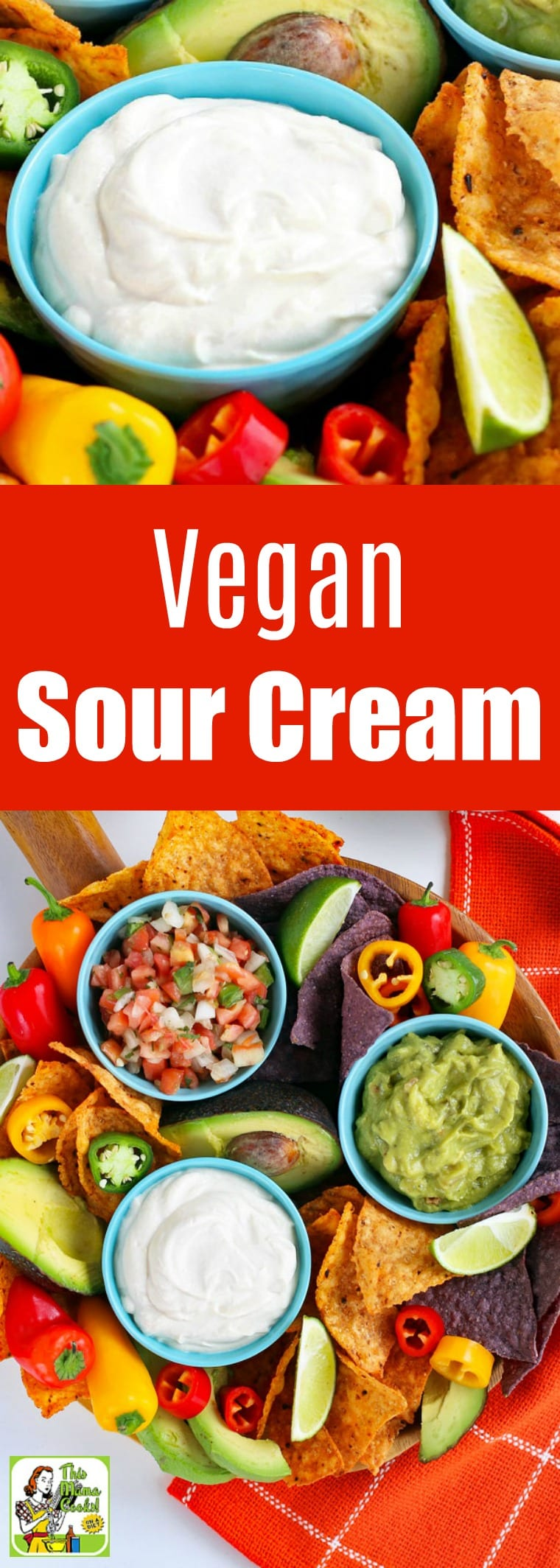 This creamy vegan sour cream is made with firm tofu. Perfect to use wherever you need a dairy-free sour cream substitute. Use it in place of crema Mexicana in your favorite Mexican dishes like tacos, burritos, or nachos. A terrific vegan and dairy-free substitution for crème fraîche, too! #recipes #easy #recipeoftheday #glutenfree #easyrecipe #easyrecipes #glutenfreerecipes #dairyfree #veganfood #vegan #veganrecipes #tofu