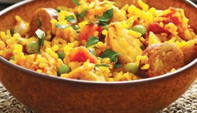 Chicken and Sausage Paella recipe
