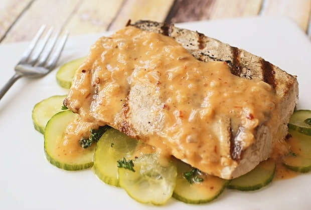 Grilled Fish with Hot Sauce Buerre Blanc at This Mama Cooks! On a Diet - thismamacooks.com