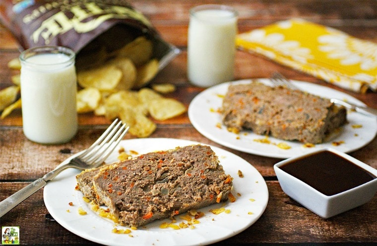 Easy Gluten Free Meatloaf with Potato Chips and Carrots Recipe