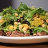 Flank Steak With Chickpea Arugula Salad