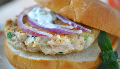 Snappy Salmon Burgers