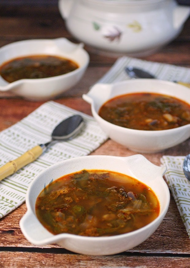 Spicy Chorizo, Bean & Kale Soup from This Mama Cooks! On a Diet - thismamacooks.com