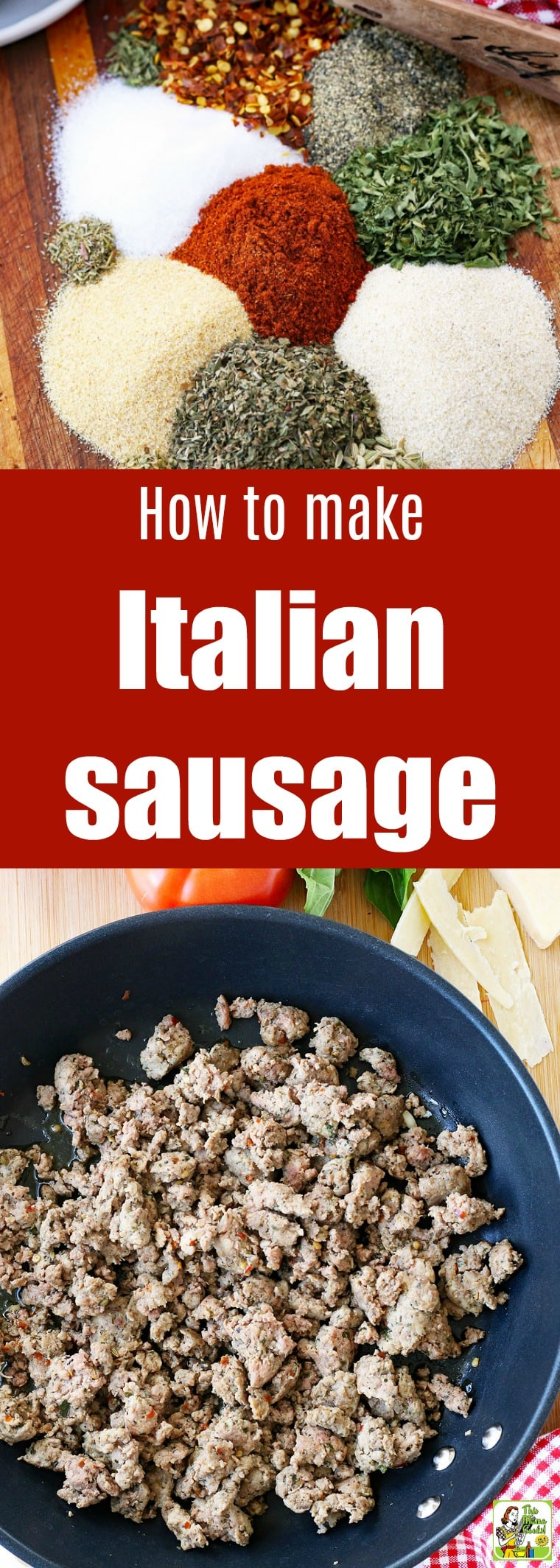 This Homemade Italian Sausage recipe is easy to make and can be used in recipes like Thanksgiving stuffing, spaghetti sauce, and lasagna. The Italian sausage seasoning can be adjusted to be mild or spicy. #recipes #easy #recipeoftheday #easyrecipe #easyrecipes #sausage #italian #italianfood #italianrecipes