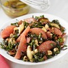 Kale & Grapefruit Salad with Warm Bacon-Wild Mushroom Dressing