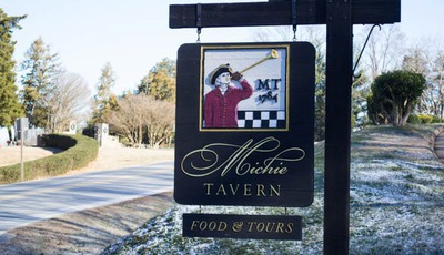 Dining at Michie Tavern in Charlottesville, Virginia