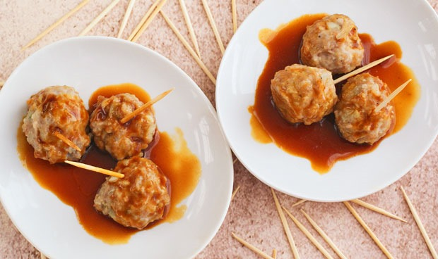 Get this easty to make Gluten Free Asian Ginger Meatball Appetizer recipe at This Mama Cooks! On a Diet