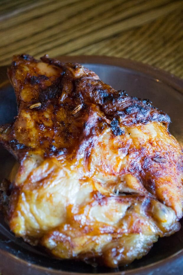 Baked chicken at Michie Tavern in Charlottesville, Virginia at This Mama Cooks! On a Diet - thismamacooks.com