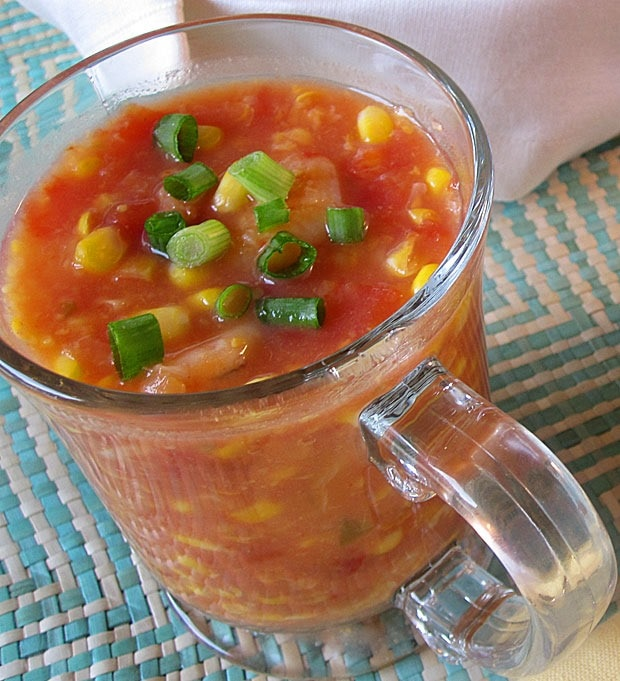 Quick Shrimp and Corn Soup at This Mama Cooks! On a Diet - thismamacooks.com