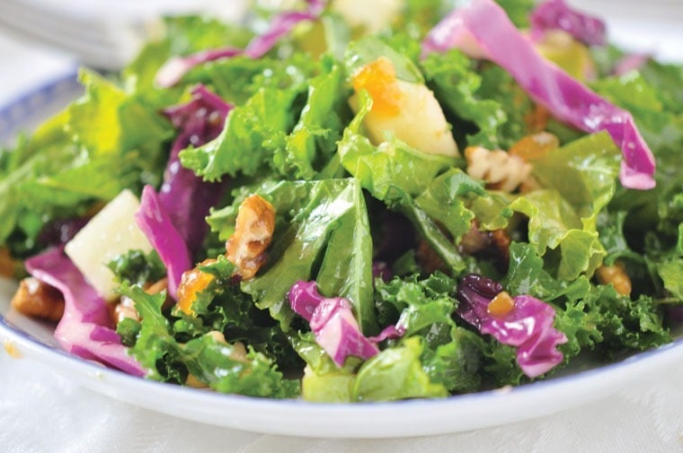 Kale Salad with Fruity Vinaigrette at This Mama Cooks! On a Diet - thismamacooks.com