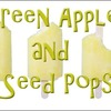 Green Apple and Flax Seed Popsicles
