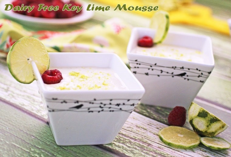 Need a dairy free dessert? Try my Dairy Free Key Lime Mousse at This Mama Cooks! On a Diet - thismamacooks.com