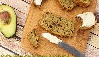 Gluten Free Avocado Chocolate Chip Bread