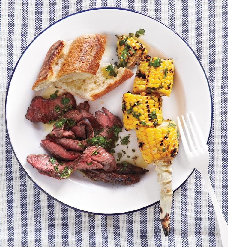 Grill up some Skirt Steak and Corn with Chimichurri at This Mama Cooks! On a  Diet - thismamacooks.com