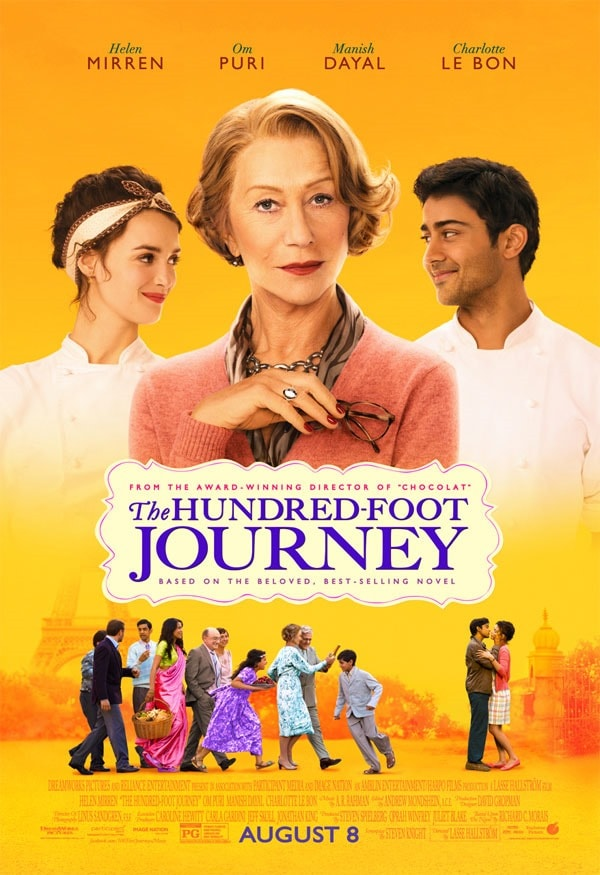 Poster for The Hundred-Foot Journey movie.