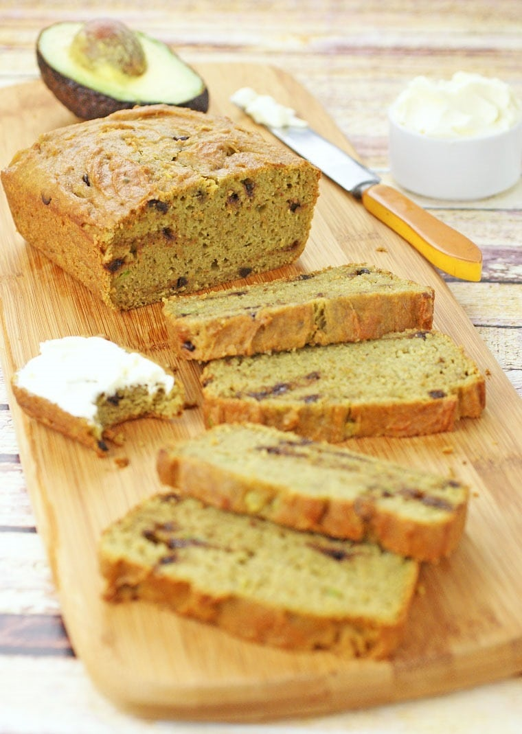 Learn how to make this Gluten Free Avocado Chocolate Chip Bread at This Mama Cooks! On a Diet - thismamacooks.com