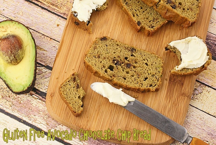 Gluten Free Avocado Chocolate Chip Bread at This Mama Cooks! On a Diet - thismamacooks.com