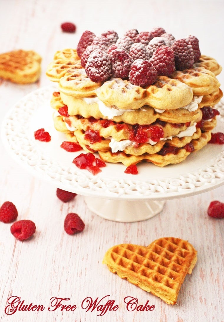 It's also sugar free and dairy free! Gluten Free Waffle Cake at This Mama Cooks! On a Diet - thismamacooks.com