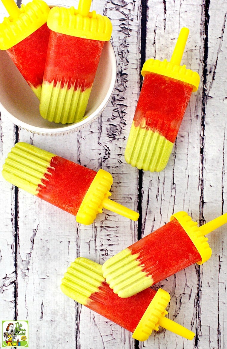 Avocado & Watermelon Ice Pops