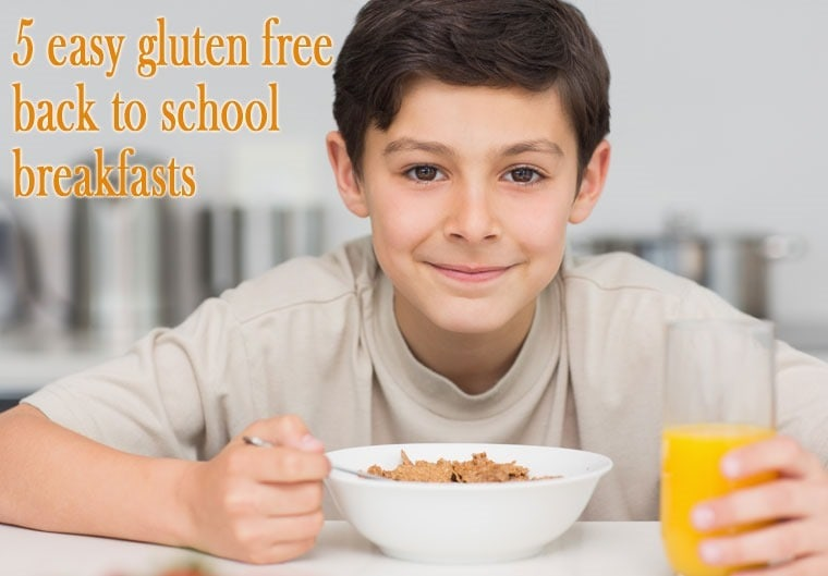 Get 5 easy gluten free back to school breakfasts ideas at This Mama Cooks! - thismamacooks.com!