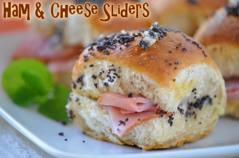 Ham & Cheese Sliders at This Mama Cooks! On a Diet - thismamacooks.com