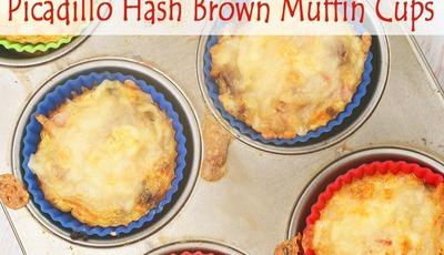 Picadillo Hash Brown Muffin Cups