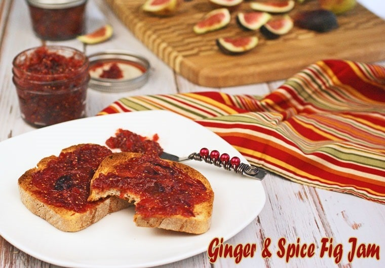 Ginger & Spice Fig Jam at This Mama Cooks! On a Diet  - thismamacooks.com