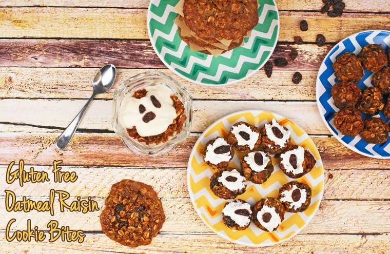 Gluten Free Oatmeal Raisin Cookie Bites at This Mama Cooks! On a Diet - thismamacooks.com