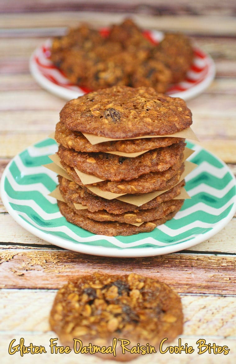 Easy to make Gluten Free Oatmeal Raisin Cookie Bites at This Mama Cooks! On a Diet - thismamacooks.com