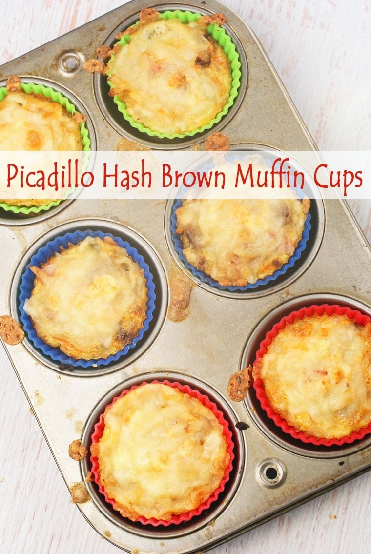 Picadillo Hash Brown Muffin Cups at This Mama Cooks! On a Diet - thismamacooks.com