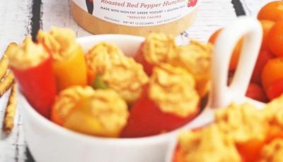 Skinnygirl Hummus Stuffed Mini Sweet Peppers