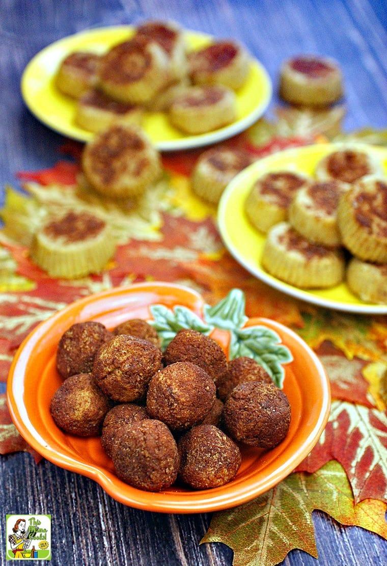 Healthy pumpkin recipes: a dish of Dairy Free Pumpkin Fudge