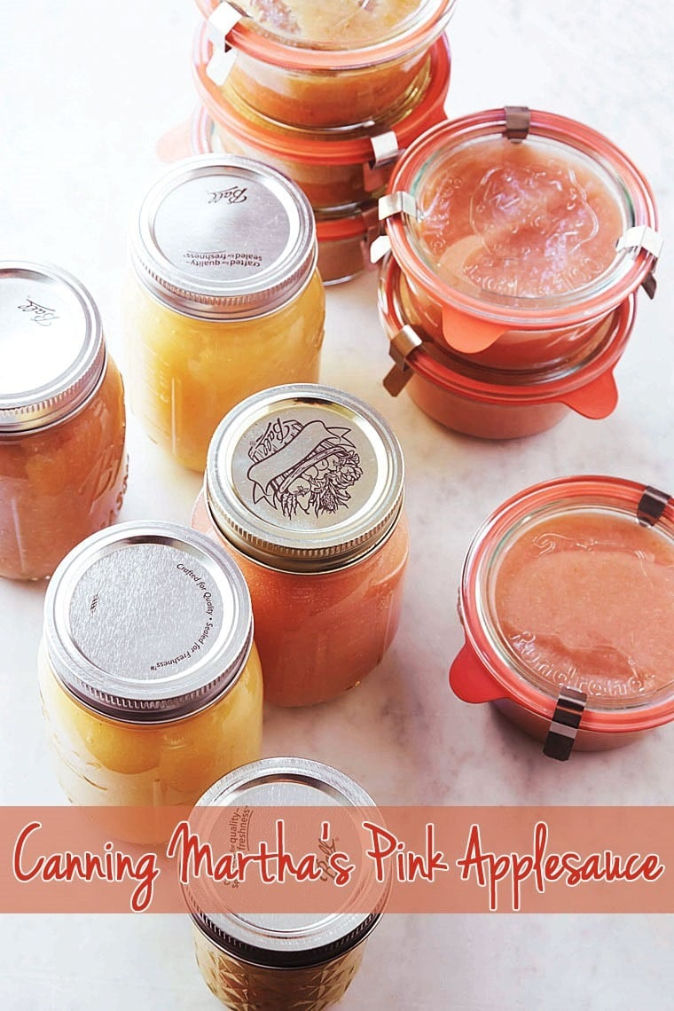 Looking for a homemade applesauce recipe? Try canning Martha's Pink Applesauce - Learn how at This Mama Cooks! On a Diet - thismamacooks.com