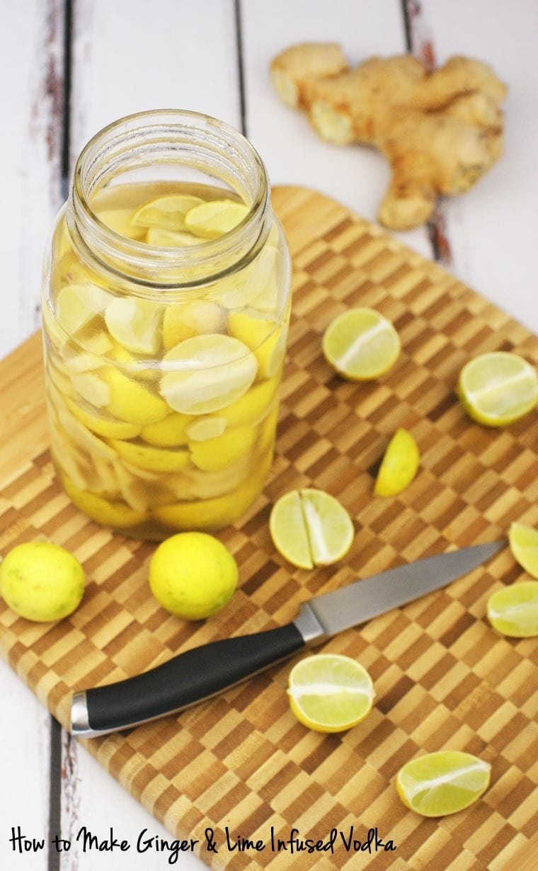 How to make Ginger Lime Infused Vodka. Learn how at This Mama Cooks! On a Diet - thismamacooks.com