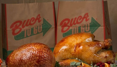 Have Buca di Beppo make you the office holiday party hero!