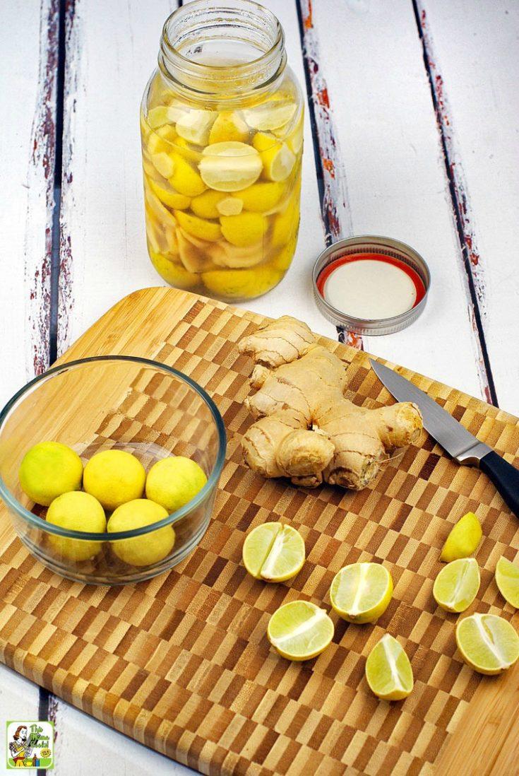 Lime & Ginger Infused Vodka recipe