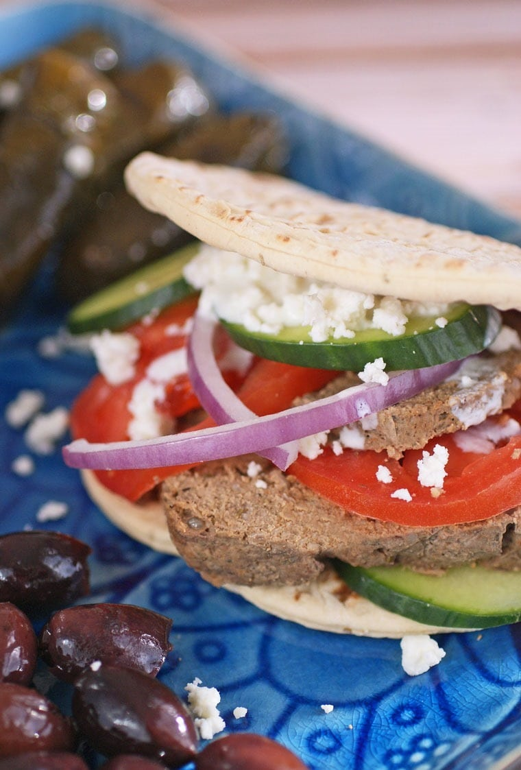 Serve up these Healthy Homemade Gyros at your next party! Get the easy to make gyro meatloaf recipe at This Mama Cooks! On a Diet - thismamacooks.com