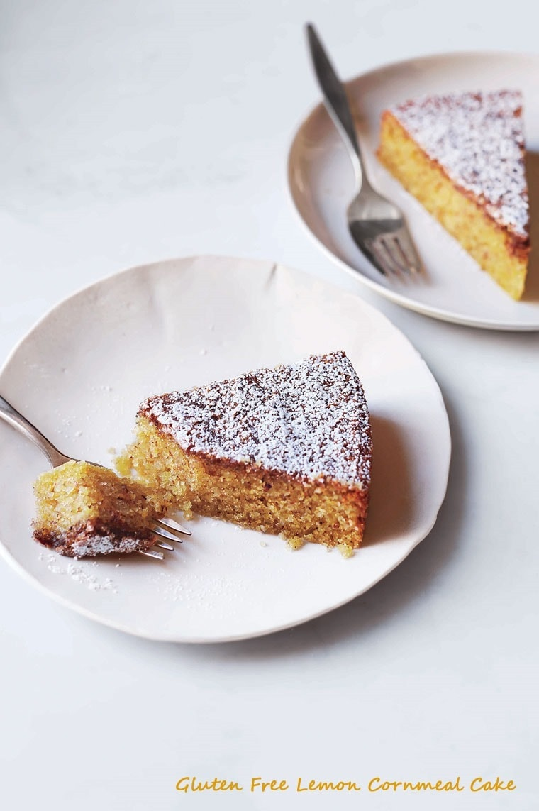 Gluten Free Lemon Cornmeal Cake. Get the recipe at This Mama Cooks! On a Diet