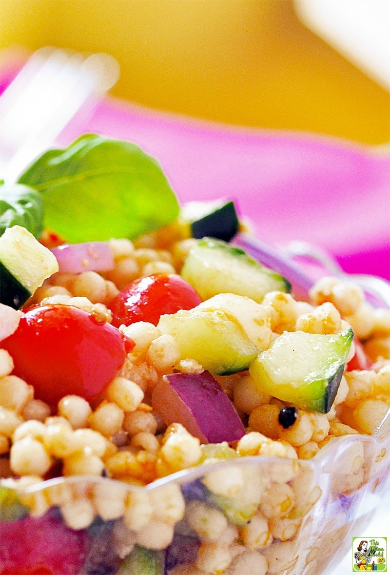 Bruschetta Couscous Salad recipe can be made with rice, too.